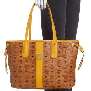 MCM Liz Shopper Medium Bag Cognac Yellow